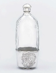 A George I silver mounted glas