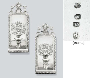 A pair of William III silver w