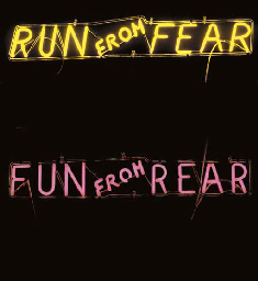 RUN FROM FEAR FUN FROM REAR