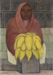Mujer indígena con elotes (Ind