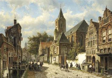 Dutch town in Summer
