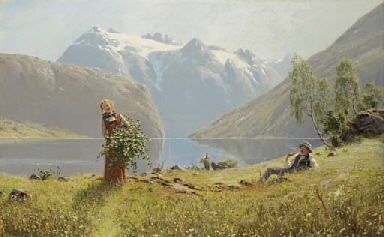 A summer day by the fjord