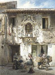 A Roman house with an edicola