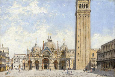 Piazza San Marco with a view o