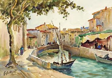 Un canal à Martigues; Un rue à