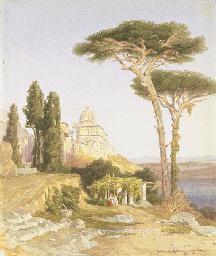 Veduta di Castelgandolfo con L