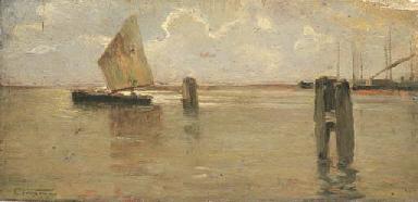 Venezia, bricole e vele in Lag