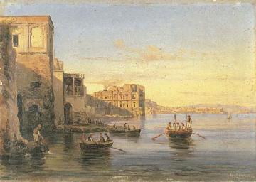 Napoli da Posillipo firmato G.
