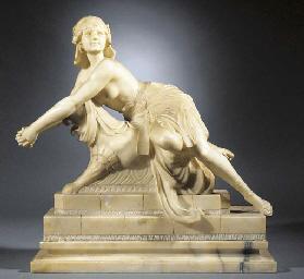 A large alabaster figure