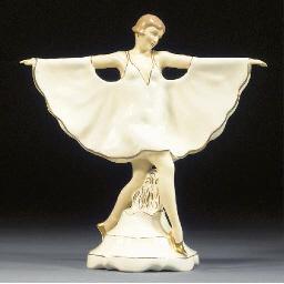 A Royal Dux pottery figure