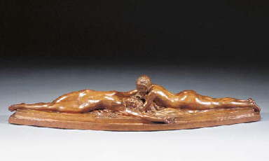 A brown burnished terracotta f
