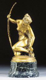 A gilt bronze figure