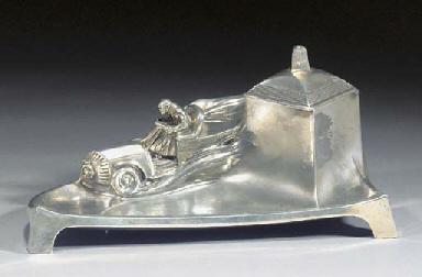 An Orivit silvered metal figur