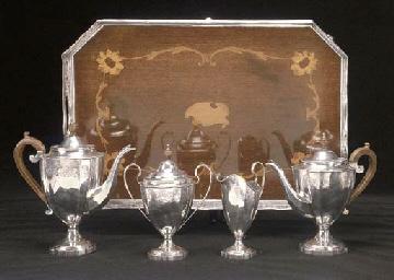 A George V Four-Piece Silver T