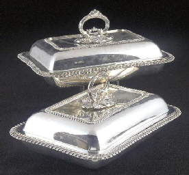 Two Edwardian Silver Covered E