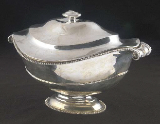 A Victorian Silver Soup Tureen