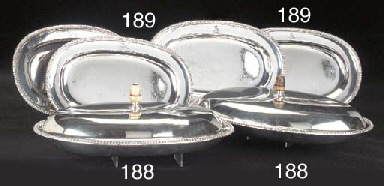 Two George III Silver Entrée D