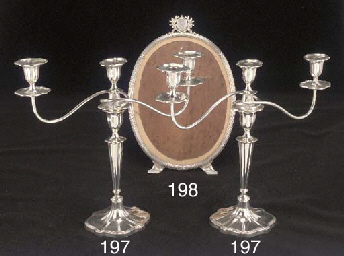 A Pair of George V Silver Thre