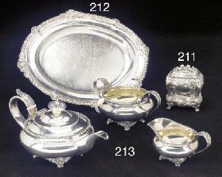 A Three-Piece George IV Silver