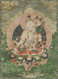 A Thangka of White Tara,