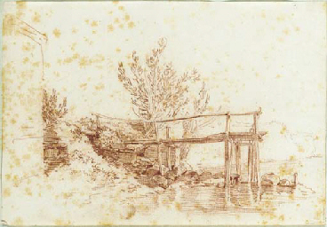 A small dock with trees