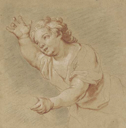 Putto with outreached arm