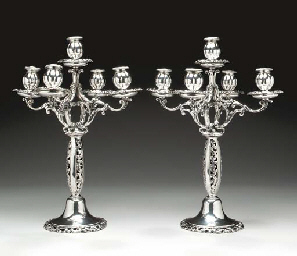 A PAIR OF GERMAN SILVER FIVE-L