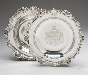 A PAIR OF GEORGE III SILVER SO