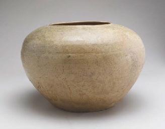 An Ash-Glazed Compressed Potte