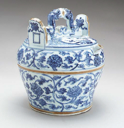 A Blue and White Water Pot,