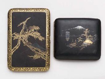 Two Iron Cigarette Cases,