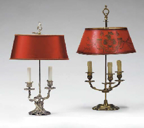TWO FRENCH BOUILLOTTE LAMPS,