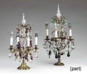 TWO PAIRS OF LOUIS XV STYLE MO