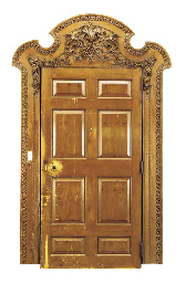 A GEORGE II STYLE DOOR AND SUR