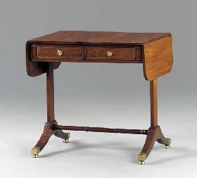 A REGENCY MAHOGANY SOFA TABLE,