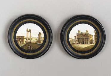 A PAIR OF ITALIAN MICRO-MOSAIC