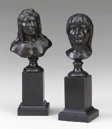 Bust of an Indian With Hair Ti
