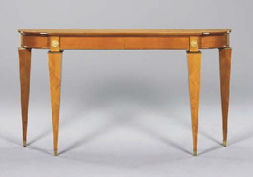 A FRUITWOOD AND GILT-BRONZE CO