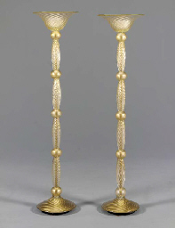 A PAIR OF INTERNALLY-DECORATED