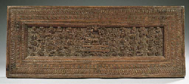 a tibetan wooden manuscript co