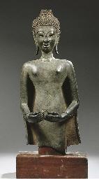 a laos bronze bust of buddha s