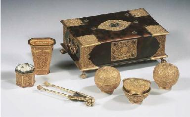 a javanese gold-mounted tortoi