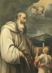 San Romualdo con un angelo