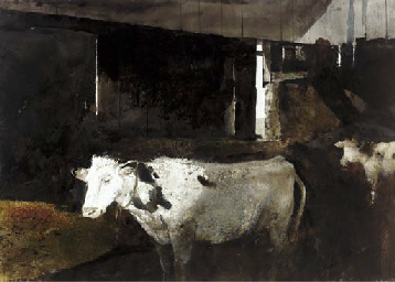 Cow Shed in Winter