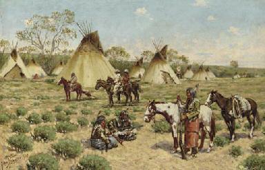 Sioux Encampment, Porcupine