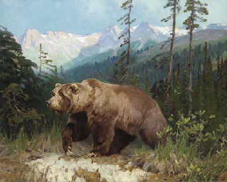 Alaskan Brown Bear-Out of the