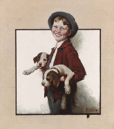Boy with Puppies