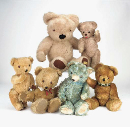 Various late British Teddy bea
