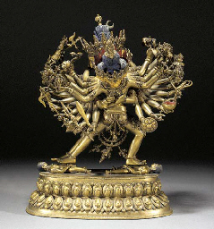 A Nepalese gilt bronze and pai