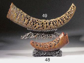 A buffalo horn carving Early 1